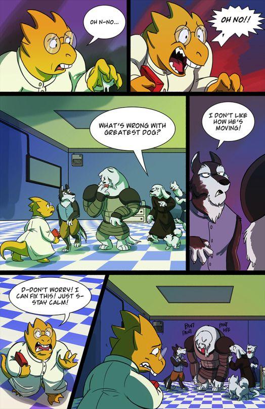 undertale green comic