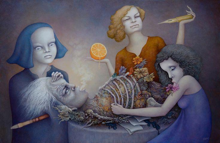 l'atelier de Michel Ogier artiste peintre maniériste et visionnaire