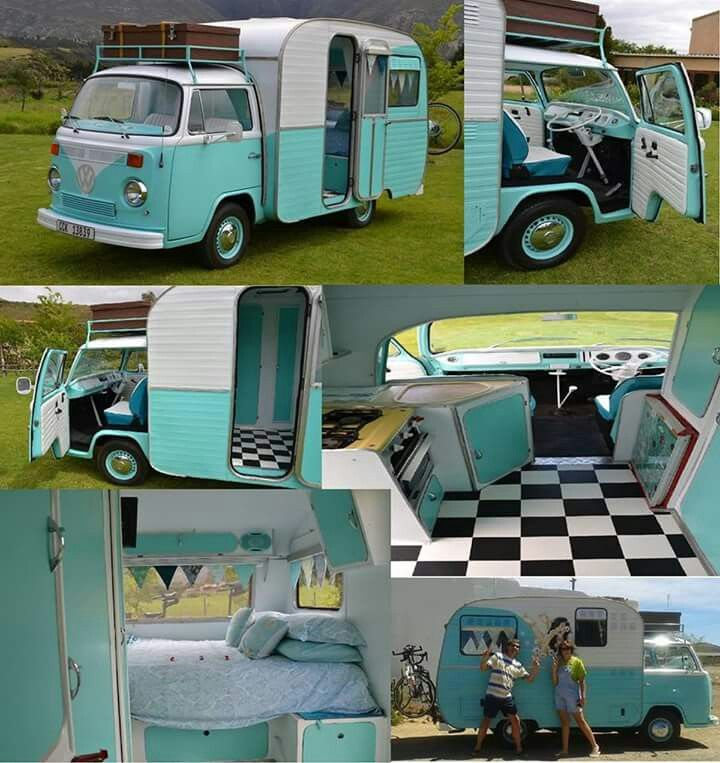 Love the turquoise and B/W tile.  Check out the white leather seat!  Would be so cute with pink accents.