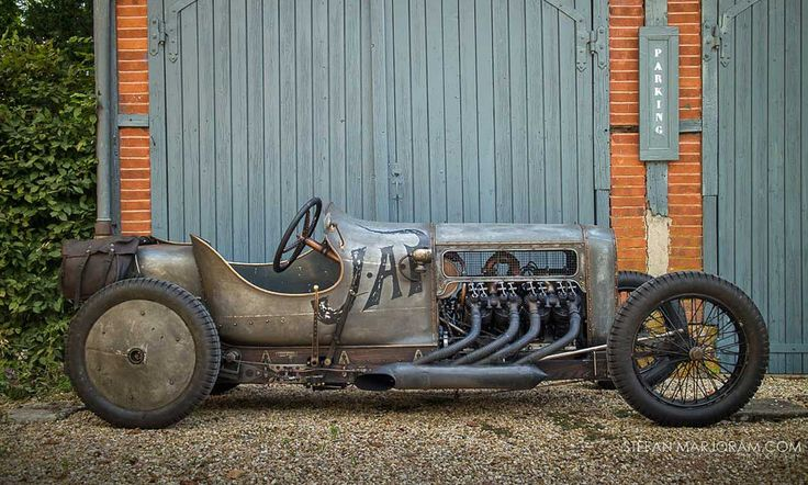 Created a V8 out of JAP twin cylinder motorcycle engines. Quite the roadster. Amazing piece of work!