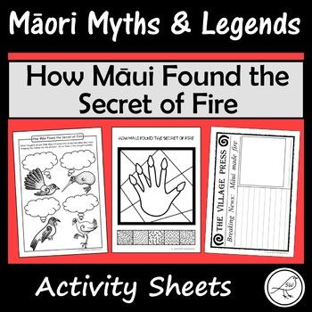 These are fun and engaging activity sheets for the story 'How Māui Found the Secret of Fire. Plenty of activities to pick-and-choose from. Simply print and you're ready to go! A great addition to a unit study on Māori Myths and Legends.