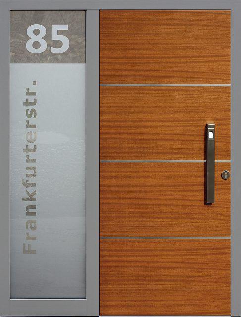 Drzwi zewnętrzne ze stałą dostawką doświetlem bocznym model 490,20