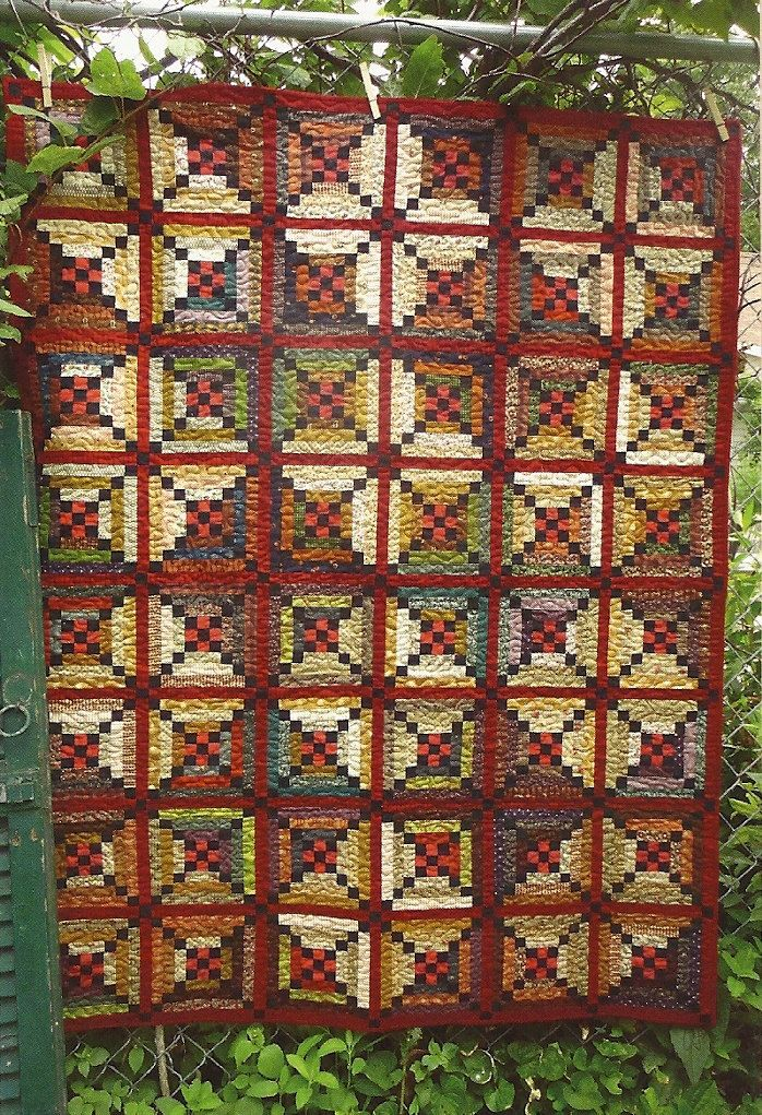 Primitive Folk Art Wall Quilt Pattern:  RIVER TOWN. $8.85, via Etsy.
