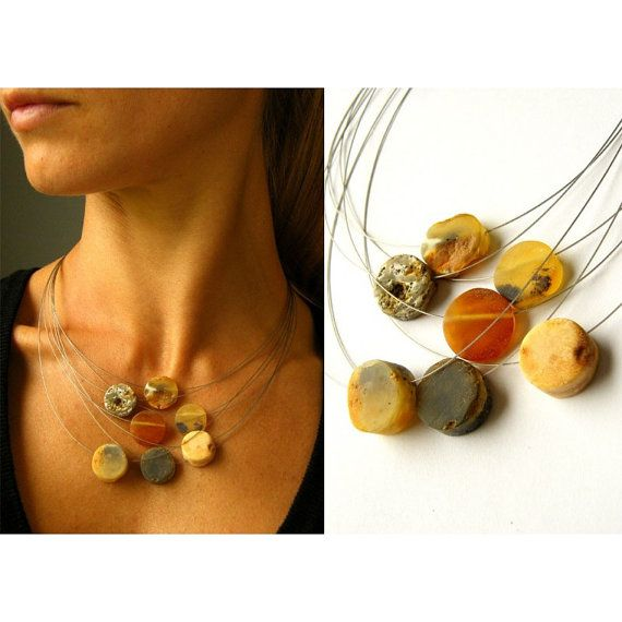 Amber Necklace Baltic Amber Necklace Raw Amber by AmberBijou