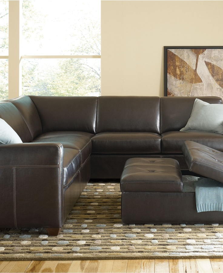 Alessandro Leather Sectional Living Room Furniture Collection Sectionals Co