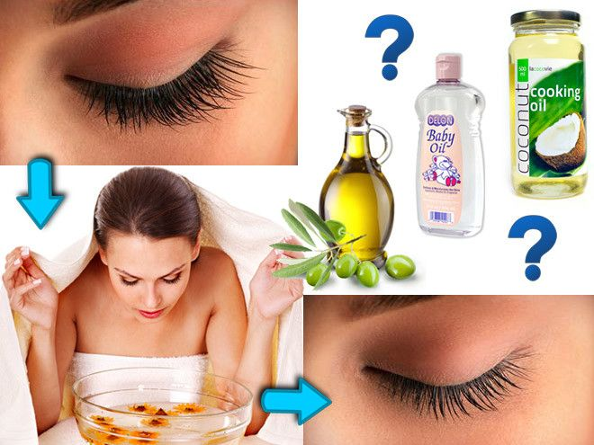 how to get oil off eyelashes