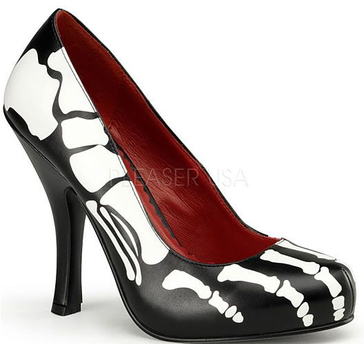 Who here can do rounds in these skeleton shoes?: Skeletons Shoes, Fashion, Style, Halloween Costumes, Clothing, Xray, Pumps, High Heels, X Ray