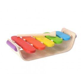 Çocuklarınız ahşap oyuncaklar ile notaları öğrenirken kendi müziklerini yapacaklar  Bu ahşap ksilofon el-göz koordinasyonuna yardımcı beş renkli panel içeriyor. Unutmayınızki bu oval ksilofon eğlence için yapılmış olup, müzikal olarak doğru olmayabilir.   Ürün: cm 28.0 x 18.0 x 7.0