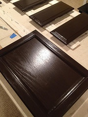 The New Cabinet Color Using Rustoleum Cabinet Transformations Kit In  Espresso