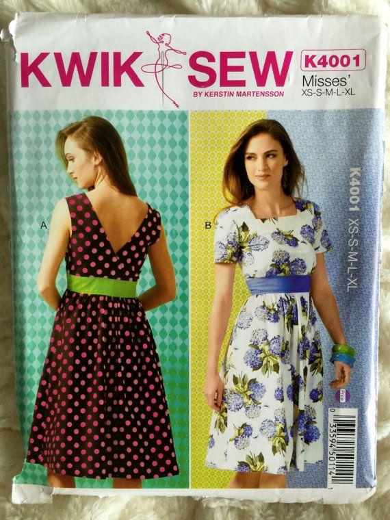 Kwik Sew Womens Empire Waist Dress Sewing Pattern by Vntgfindz