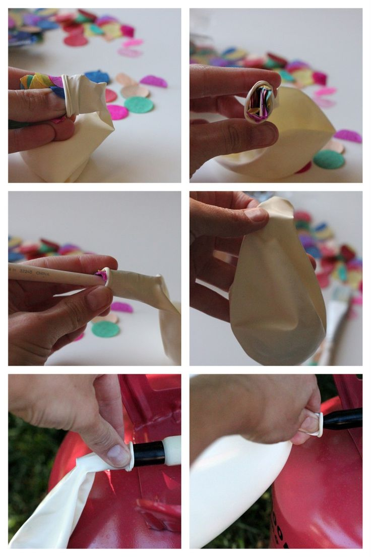 Decor ideas for Girls' Night In- how to fill balloons with confetti. http://www.pinkribbonday.com.au/