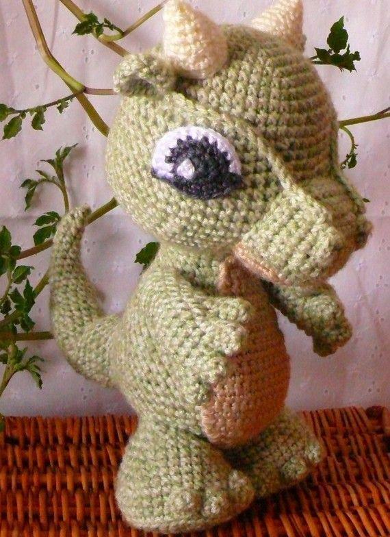 Amigurumi Baby Dragon Crochet Pattern PDF от voodoomaggie на Etsy