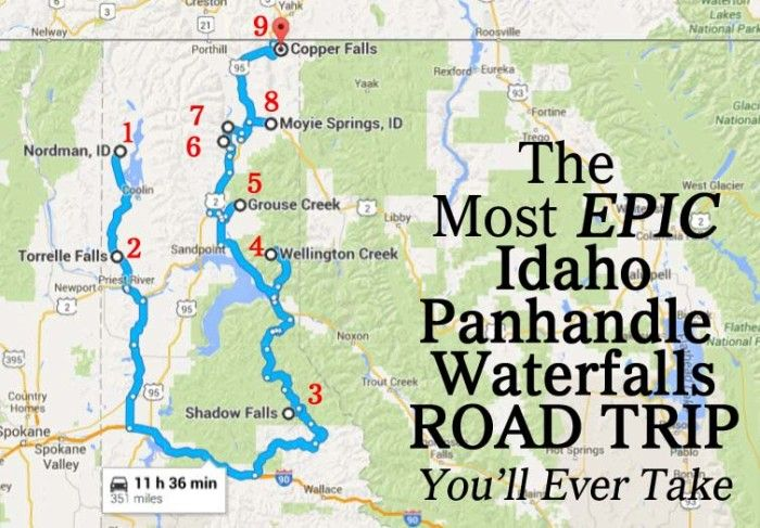 The Most Epic North Idaho Waterfalls Road Trip Is Here — And You'll Want To Do It