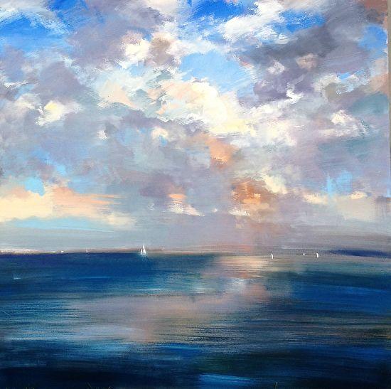 sea&sky by craig mooney Oil ~ 60 x 60