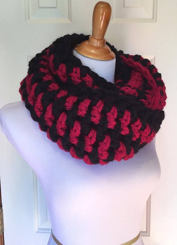 Excited to share the latest addition to my #etsy shop: USC Gamecock Scarf   Crocheted Scarf http://etsy.me/2AttLne #accessories #scarf #crochetedscarf #chunkyscarf #handmadescarf #infinityscarf #chunkyinfinitycowl #crocheted #cowl