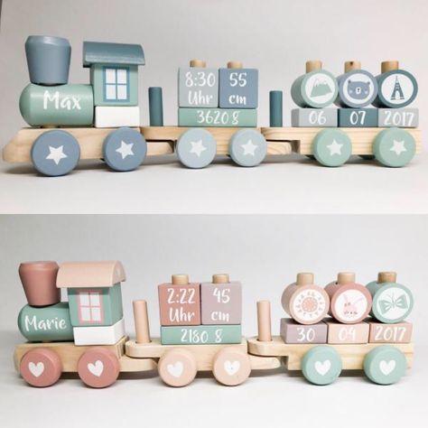 Die schönsten Züge der Welt ❤️ Little Dutch Train Mint oder Pink von ➡️ww …   – Baby