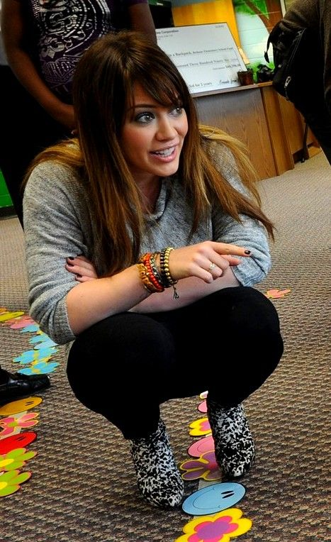 Hilary Duff at Bethune Elementary School in support of the Blessings in a Backpack program on March 21st, 2011 in Atlanta, Ga.