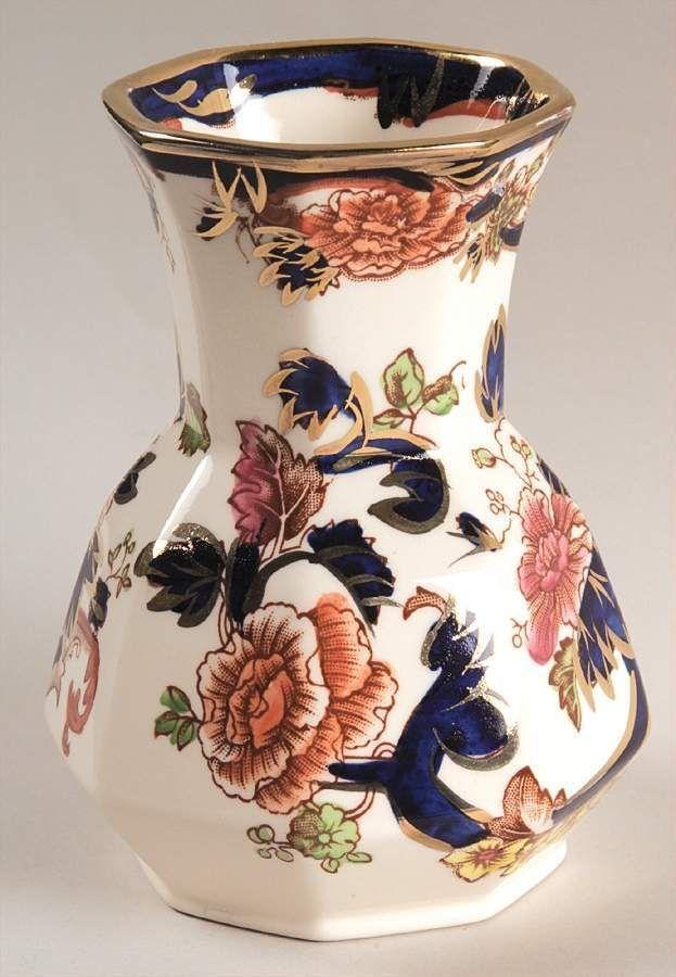 Masons Ironstone blue Mandalay Hydra vase.