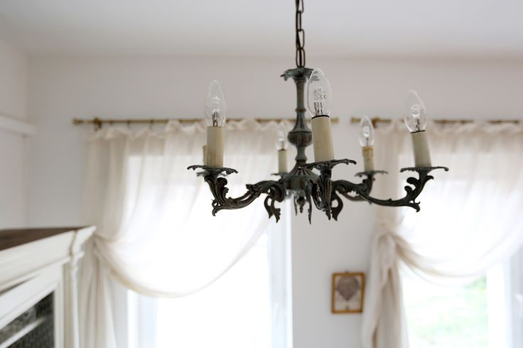 Chandelier with Duck Egg Blue