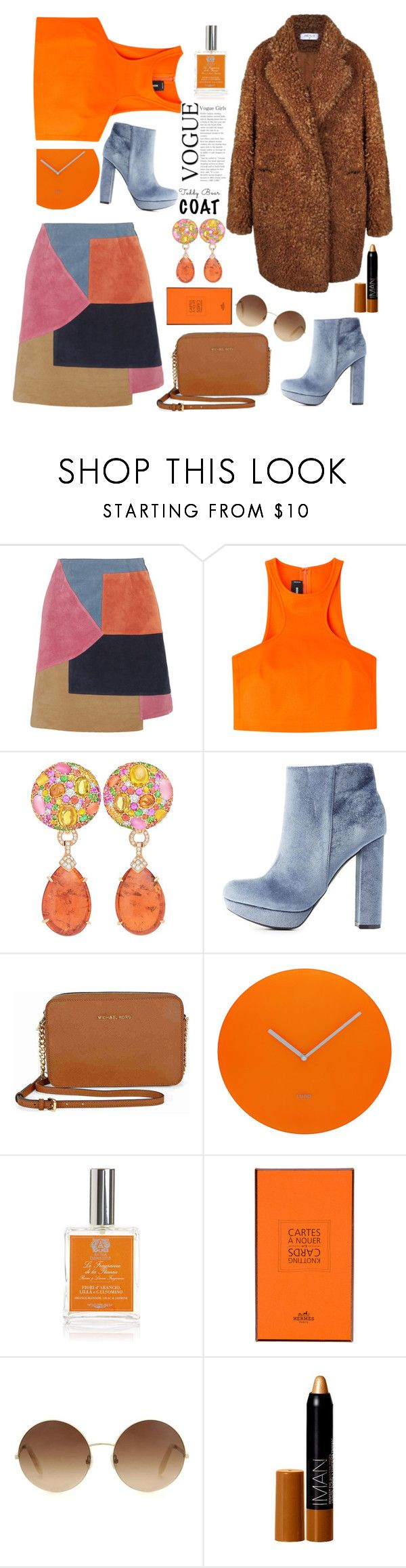 """""""This is so En Vogue"""" by felicitysparks ❤ liked on Polyvore featuring M.i.h Jeans, Dsquared2, Margot McKinney, Charlotte Russe, Michael Kors, Lund London, Antica Farmacista, Hermès, Victoria Beckham and Iman"""
