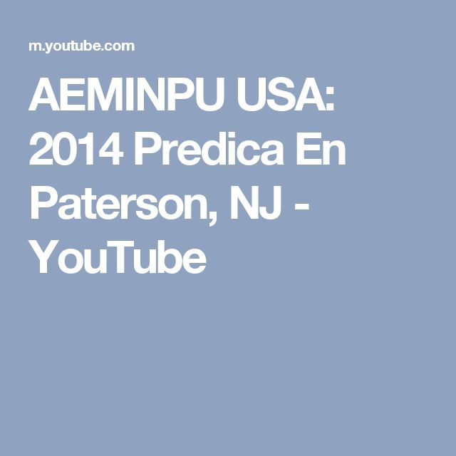AEMINPU USA: 2014 Predica En Paterson, NJ - YouTube