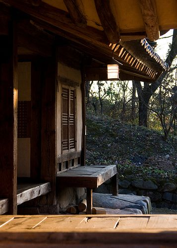 Old School Porch, Traditional Village  Gyeongju Province. Korea