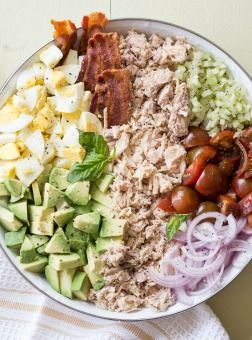 Chicken with tomatoes, eggs, bacon and avocadomake for a great combination for a salad recipe. Not only a great combination for a salad but a sandwich as well. Do any of you still have leftover eggs from your Easter? Not sure about you but our little munchkins love playing war with the eggs. You know, …