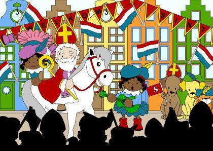 Sinterklaas intocht 1a - Sinterklaaskaarten - Kaartje2go
