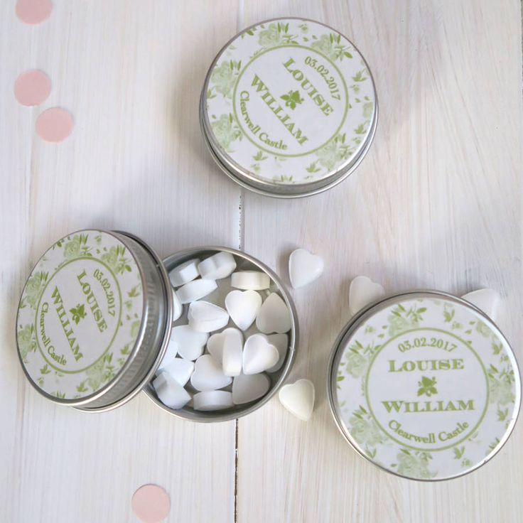 I've just found 15 Personalised Favour Tins China Rose Design. Our personalised favour tins are a gorgeous addition to any stylish wedding or party table — and a lovely keepsake for your guests!. £27.00