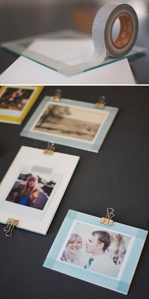 Washi Tape - Using washi tape on glass photo frames
