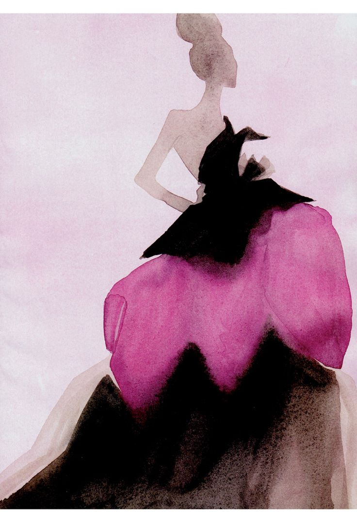 Chic fashion illustration by Mats Gustavson. From Vogue China December 2010. Via B for Bonnie.