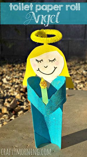 Angel Girl Toilet Paper Roll Craft For Kids | CraftyMorning.com