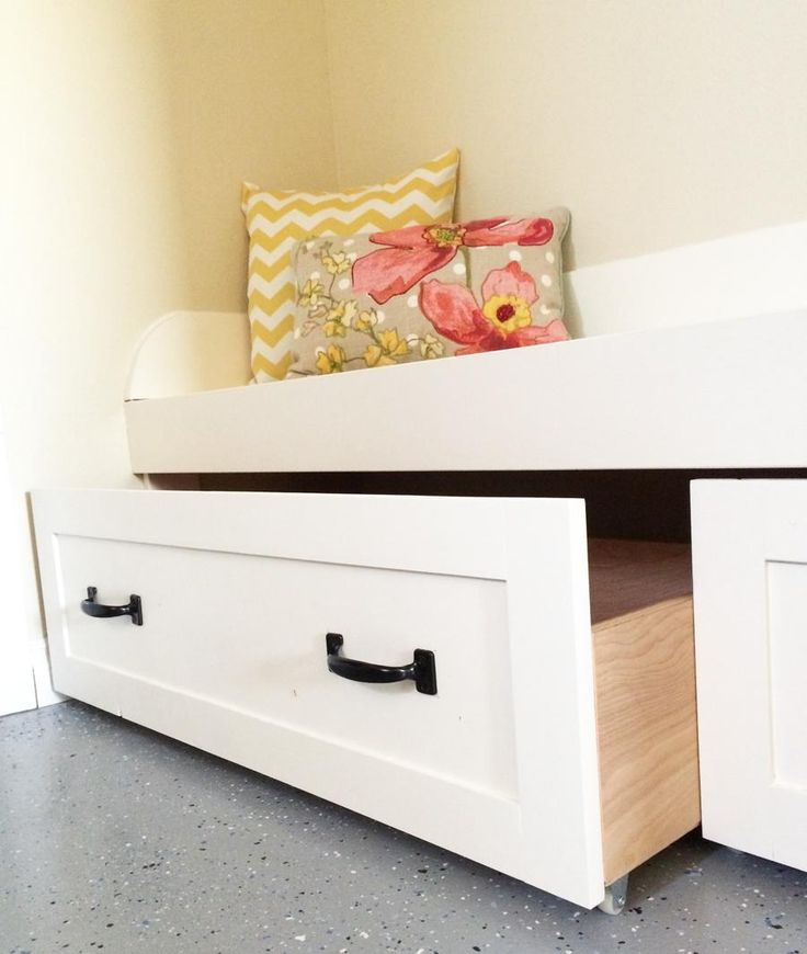 Trundle Drawers for Mudroom Bench | Ana White