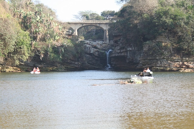 The Uvongo lagoon. A fabulous spot to hire a pedal boat and drift upstream!