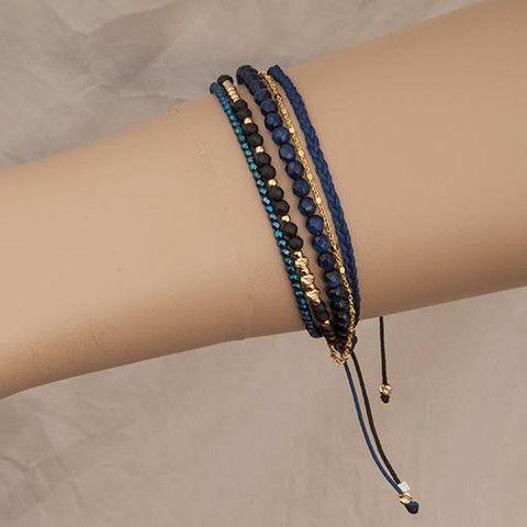 Handmade Blue Petrol Bracelet Agate  At Anthoshop.com