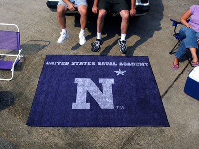 US Navy Naval Academy Logo Tailgating Rug 5' x 6' Tailgate Party Gear