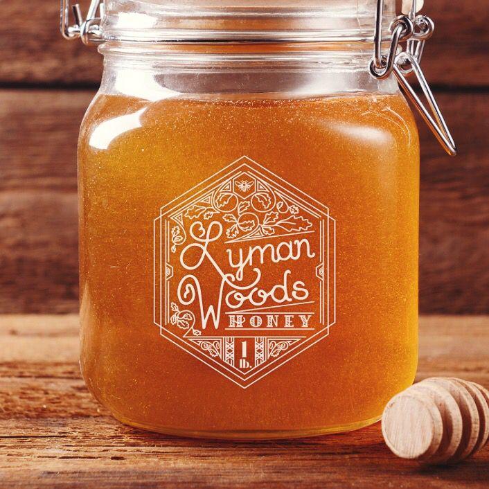 Honey jar label // #handlettering #packaging #design