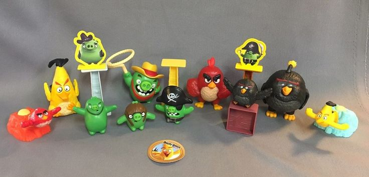 Angry Birds Mc donalds Happy Meal Toys 2016 18 Pieces #McDonalds