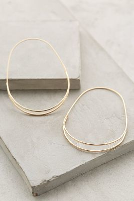 Anthropologie Wedge Hoops on http://shopstyle.com