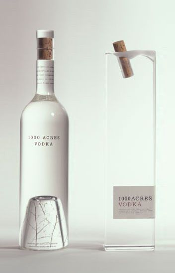 1000 Acres VODKA - the one on the left is so different, would definitely catch your eye in the liquor store