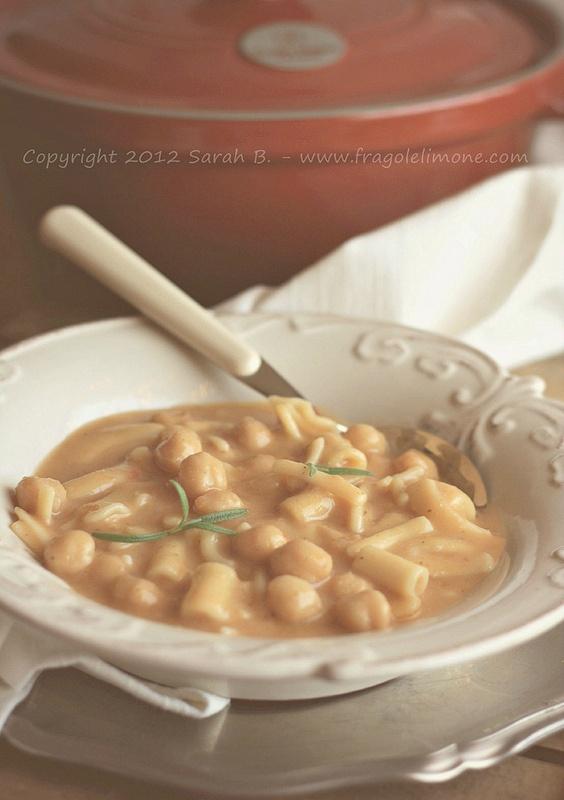 Pasta e ceci - Copyright 2012 Sarah Brunella