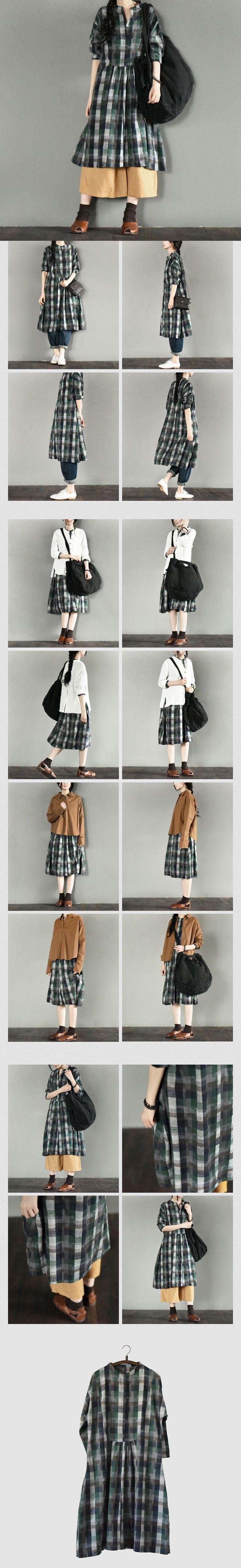Green Square Maxi Size Dress Plus Size Fashion Women Clothes