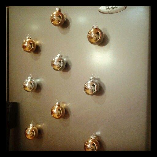 Magnetic refridgerator ornamates diy super cute, easy and festive