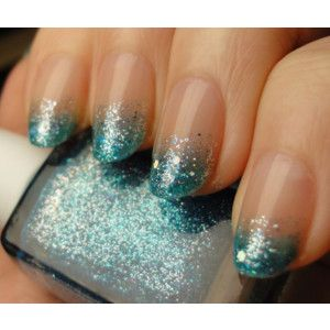 nailsNails Art, French Manicures, Nails Design, Glitter Nails, Gradient Nails, Glitter Tips, Nails Polish, Sparkly Nails, Blue Nails