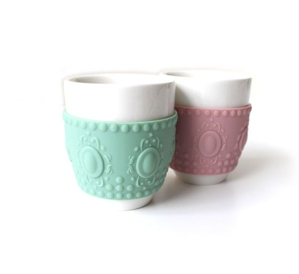 Chic&Pastel Set 2 Coffee Cup Baroque
