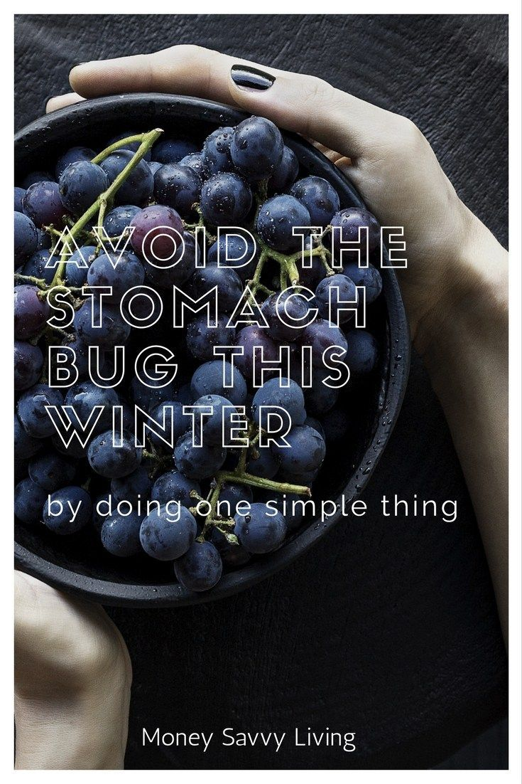 Avoid the Stomach Bug This Winter // Money Savvy Living #healthy #plantbased #plantbaseddiet #stomach