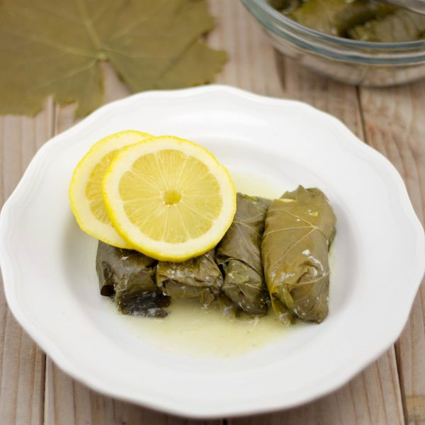 Dolmathes- Grape leaves stuffed with meat and rice in a lemon sauce--They're delicious! | Lemon & Olives | Greek food #dolmathes #greek #greekfood #dolmas #Mediterranean #food #foodporn #nomnom #recipe #appetizer #greece