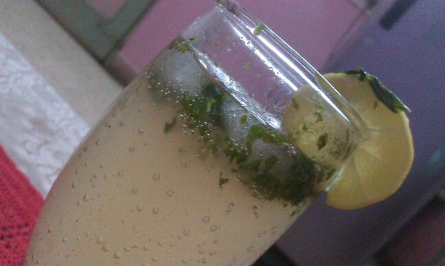Virgin Mojito right in the comforts of my home.... :)