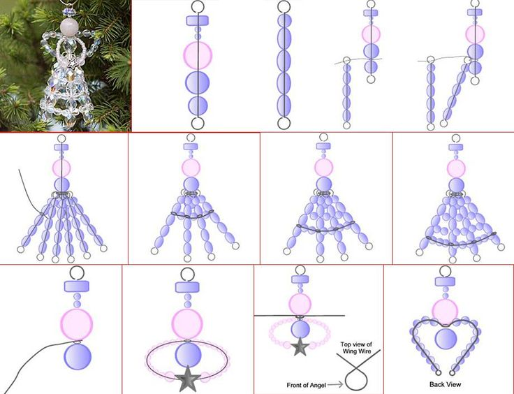 D.I.Y. Christmas Angel with Beads and Wire. Check out its detailed tutorial from…