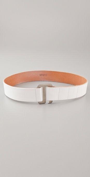 Mm6 Maison Martin Margiela Vintage Leather Belt thestylecure.com
